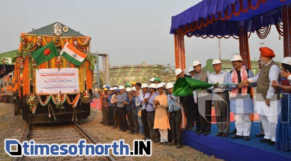 GOODWILL OIL RAKE CONSIGNMENT TO BANGLADESH FLAGGED OFF IN SILIGURI