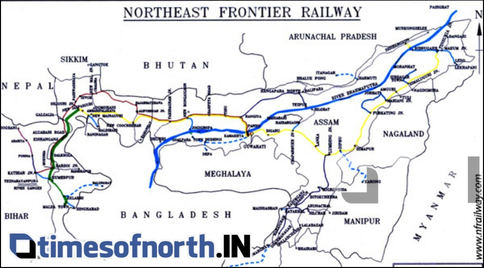 RAILWAY CONNECTIVITY TO ALL NORTHEASTERN STATES BY 2020
