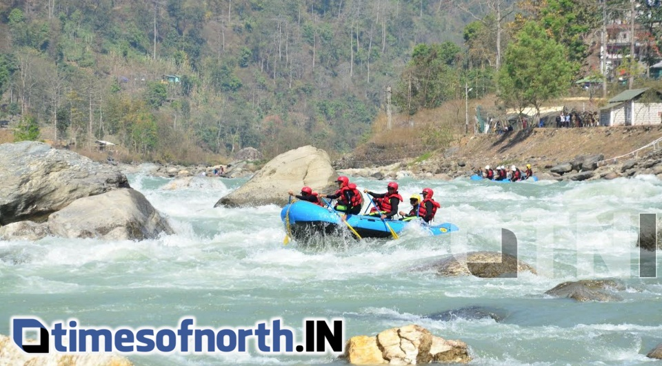 WATER RAFTING EXPEDITION BY ARMY FLAGGED OFF FROM SIKKIM