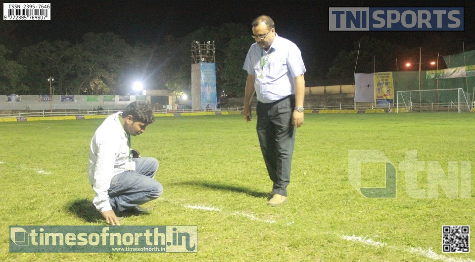 Islampur Football Tournament Organizer's Fear Damage of Football Field after Night Football
