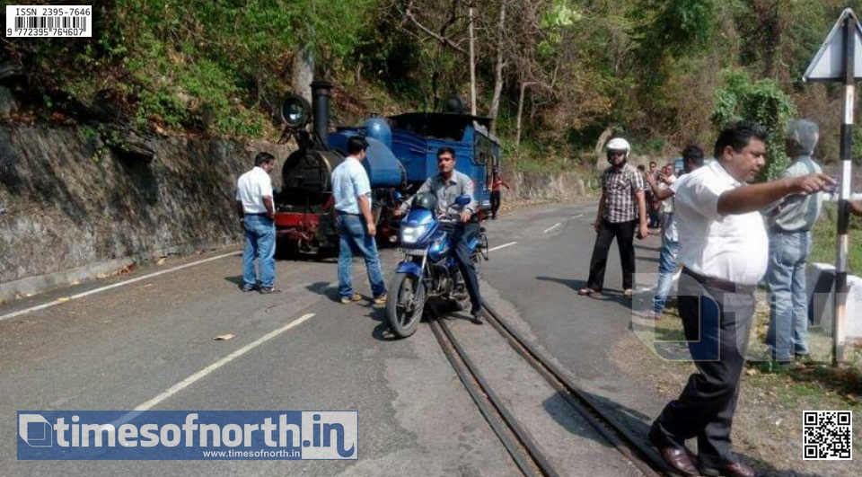 Toy Train Derails at Rongtong, No Major Damage Happened