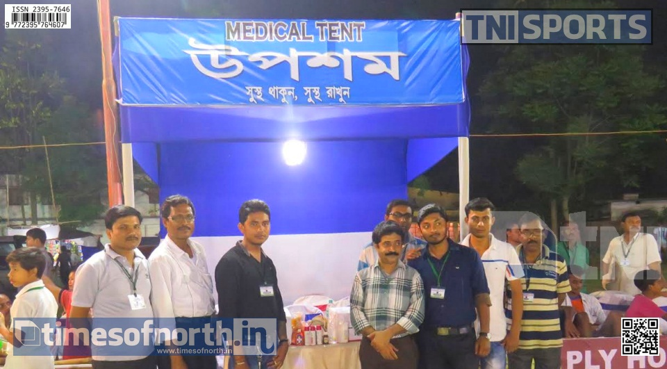 Upasham's Medical Services Go Unnoticed at Islampur's Night Football Tournament