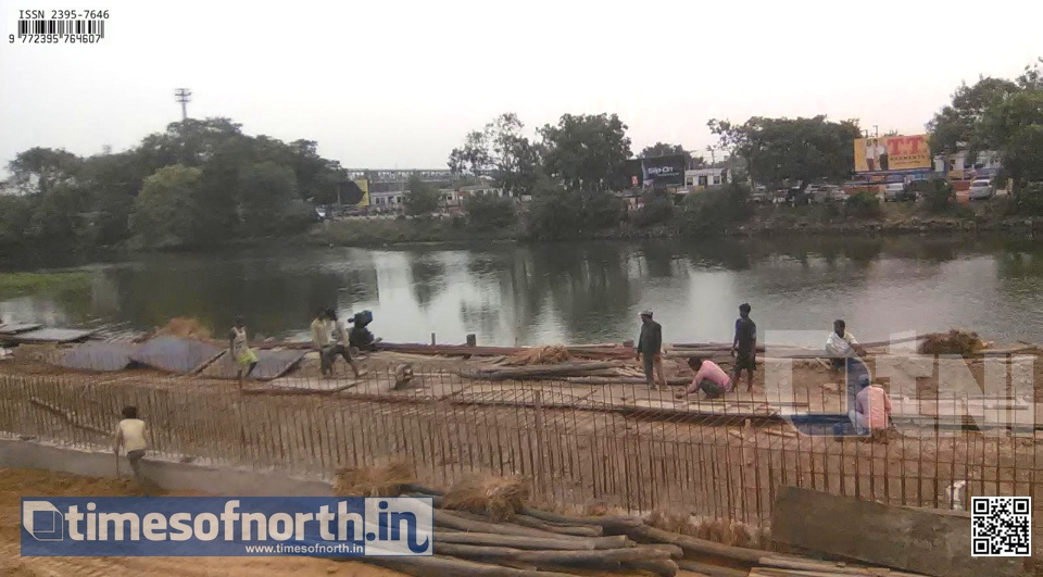 Howrah – Santragachi Overbridge Work Going On in Full Swing [VIDEO]
