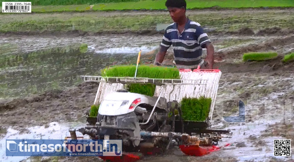 Farmer's Club Demonstrated Automated Paddy Sowing Machine to the Kuchlibari and Uchchalpukuri Farmers [VIDEO]