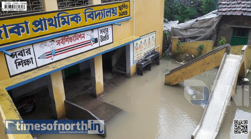 District Administration Notifies Class Suspension for Students, Not for Teachers During Flood
