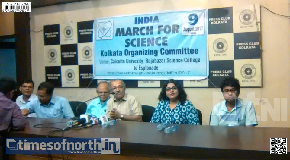 'India March for Science' to be Organized at Kolkata on 9th August for Demand of More Scientific Research
