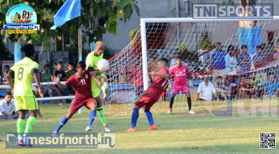 Ramkrishna BSS Wins in a Tie Breaker over Bandhab Sangha at Suryanagar Football
