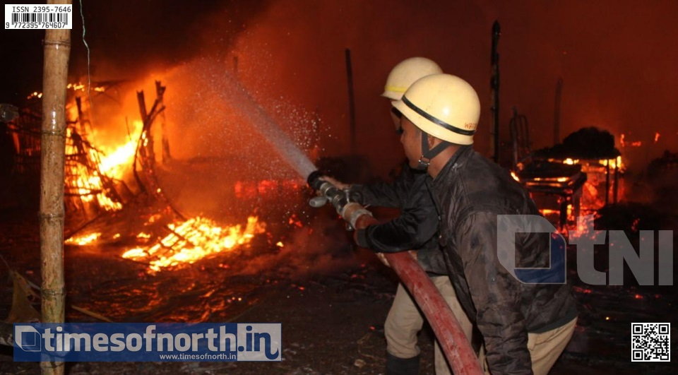 Rs. 10 Lakhs lost on Account of Fire at Dhupguri Regulated Market in Pre New Year Night
