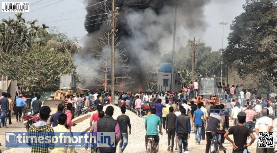 Huge Fire Breaks out at Birpara Market Place Near Rail Station