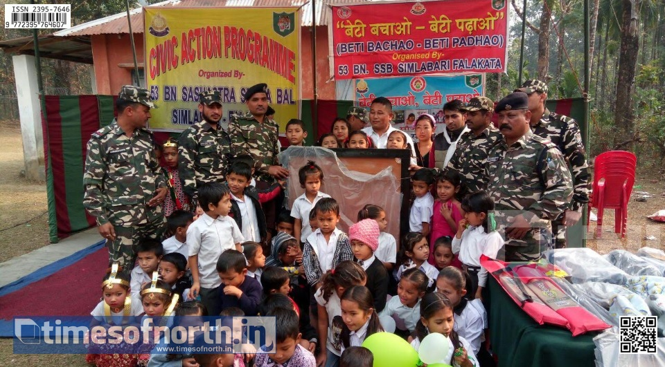 SSB Falakata Distributes Sports Items to Primary School Students