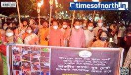 BJYM Torch Rally Against Alleged TMC Misrule Organized at Siliguri